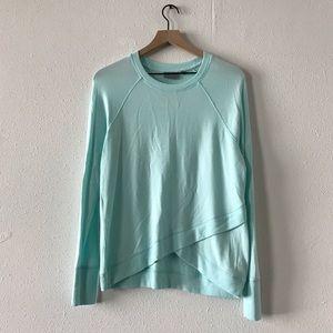Athleta soft blue criss cross sweatshirt sz S
